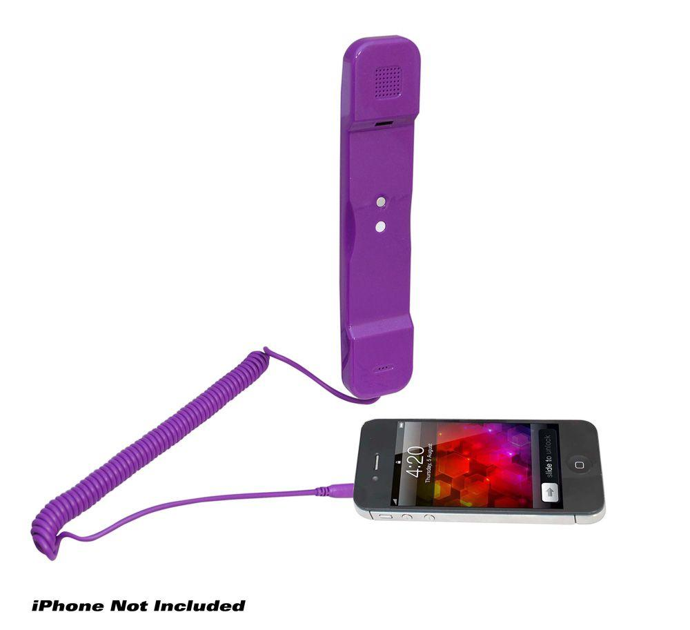 Pyle Home PITP8PUR Retro Style Pop Handset for iPhone, iPad, iPod, Android, BlackBerry, Other Cell Phones - Easy Use - Retail Packaging - Purple