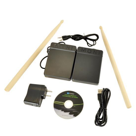 Pyle Electronic Drum Kit - Compact Drumming Machine, MIDI Computer Connection, Quick Setup Roll-Up Design (Mac & PC Compatible) (PTEDRL14)