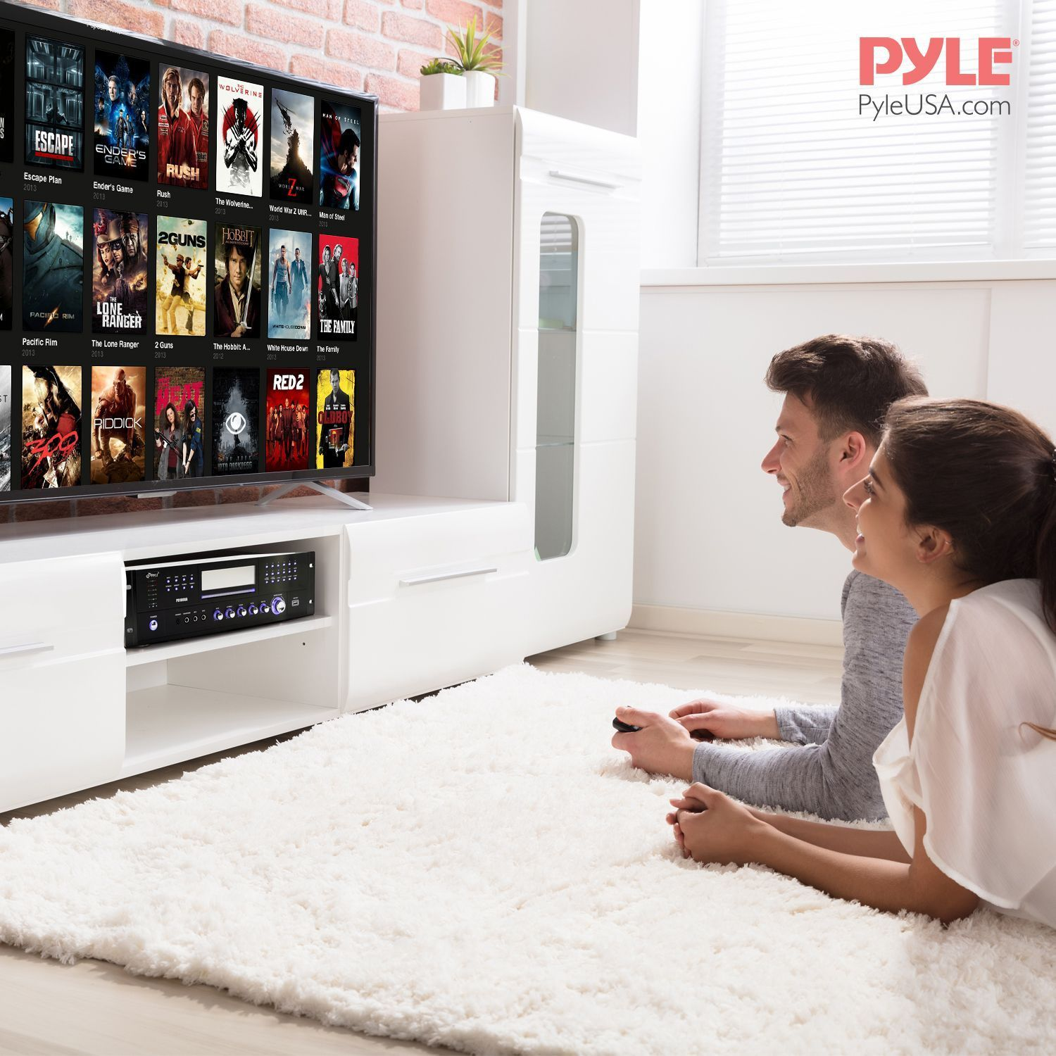 Pyle Amp W/ built in DVD player & AM/FM tuner 1000 watts (PD1000A)