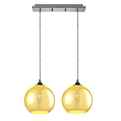 SereneLife Dual Circular Sphere Home Ceiling Lighting Fixture (SLLMP22)