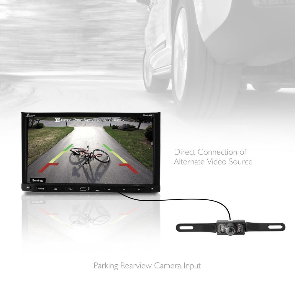 Lanzar Bluetooth Vehicle Video Headunit Receiver, 7.0'' HD Touchscreen, AM/FM Radio,  (SDN698BX)