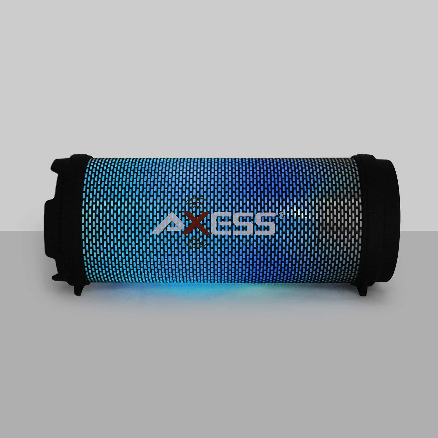 AXESS Mini Portable Bluetooth Speaker, Hi-Fi, Dancing LED Lights - Red (SPBL1043RD)