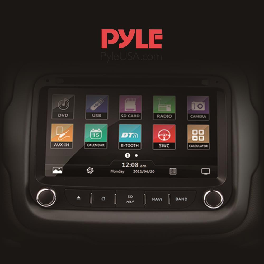Pyle Jeep Renegade 2015-2016 Bluetooth Car Stereo Receiver, 7'' HD Touchscreen, AM/FM Radio, (PJEEPREN16)