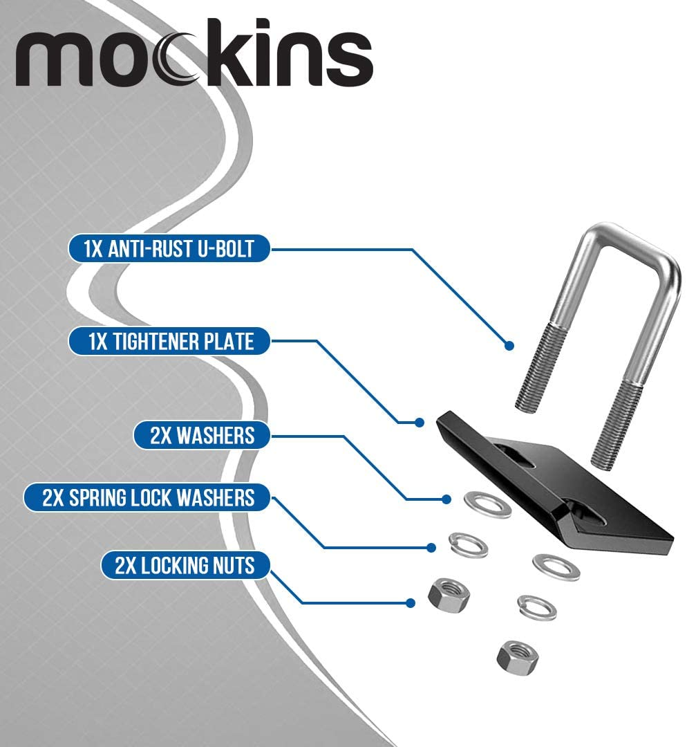 Mockins Heavy Duty Hitch Mount Cargo Carrier Hitch Stabiliser - 2'' 1.25'' Hitches (MASTBLZR35)