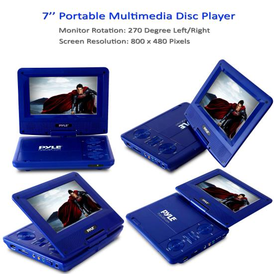 "Pyle 7"" Portable CD/DVD Player (PDV71BK)"