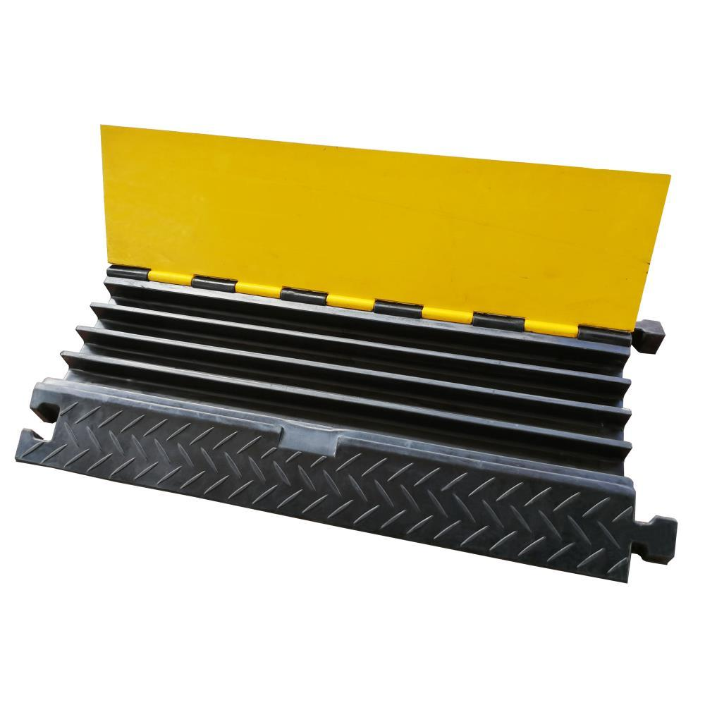 Pyle Cable Safety Protector Cover Ramp/Track, Flip-Open Access Lid, 4 Channels, (PCBLCO106)