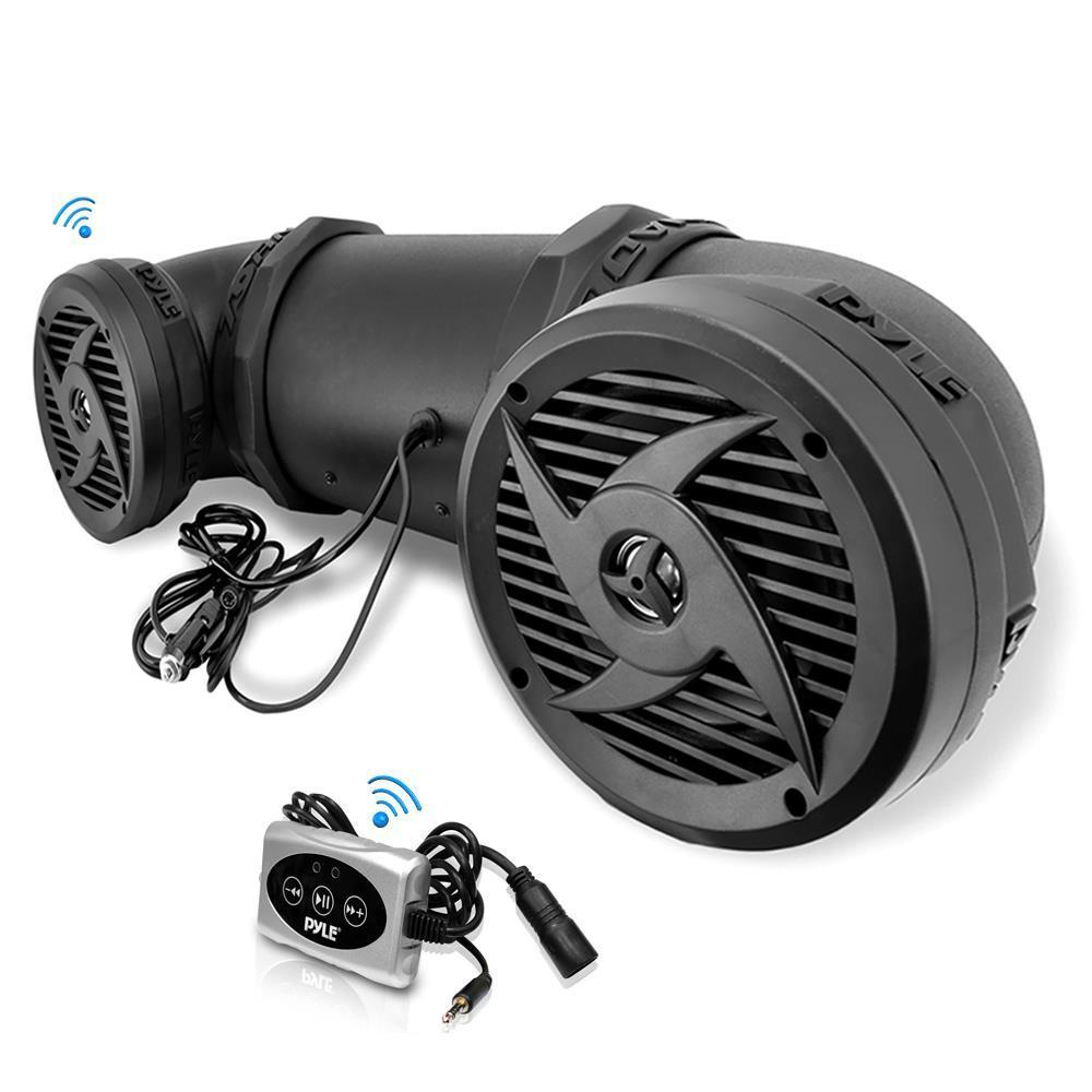 Pyle Waterproof Bluetooth Tube Speaker, Off-Road Vehicle Attachable,ATV/UTV/Jet Ski/Snowmobile, 30 ft. Range,  (PLATV550BT)