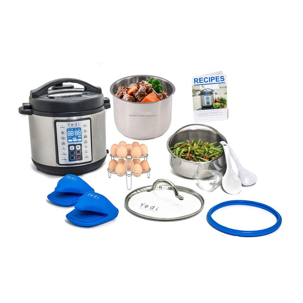 Yedi 9-in-1 Programmable Instant Pressure Cooker, with Deluxe Accessory Kit (6 Qt - Copper)