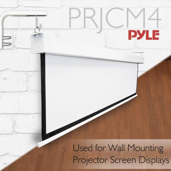 PyleHome Wall Mount Projector Screen Display Bracket Arms (PRJCM4)