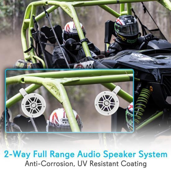 Pyle Waterproof Rated Marine Tower Speakers - Compact Wakeboard Subwoofer Speaker System (4 -inch, 300 Watt) (PLMRWB45B)