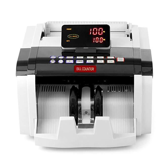 Pyle Automatic Bill Counter Machine, Counterfeit Detection, 1500 Pieces Per Minute, (PRMC600)