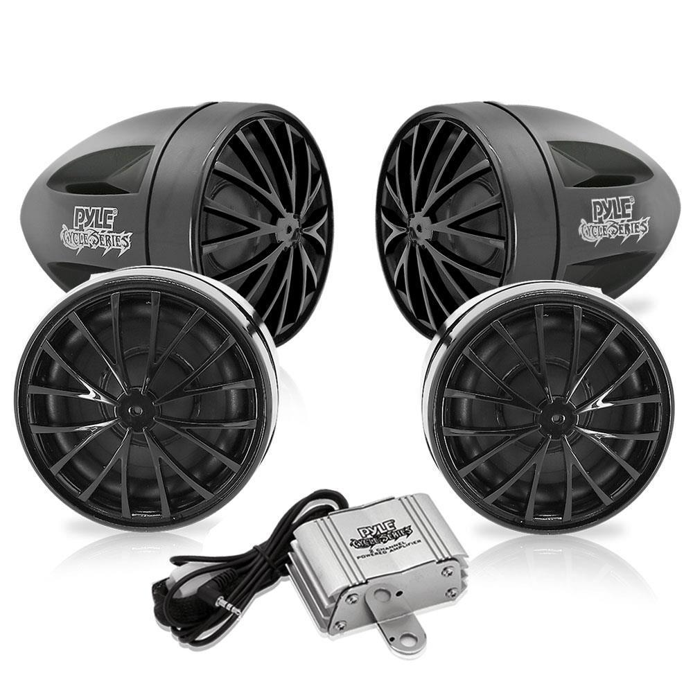 Pyle Motorcycle (4) 2.25'' Speaker System, Waterproof (PLMCA76)