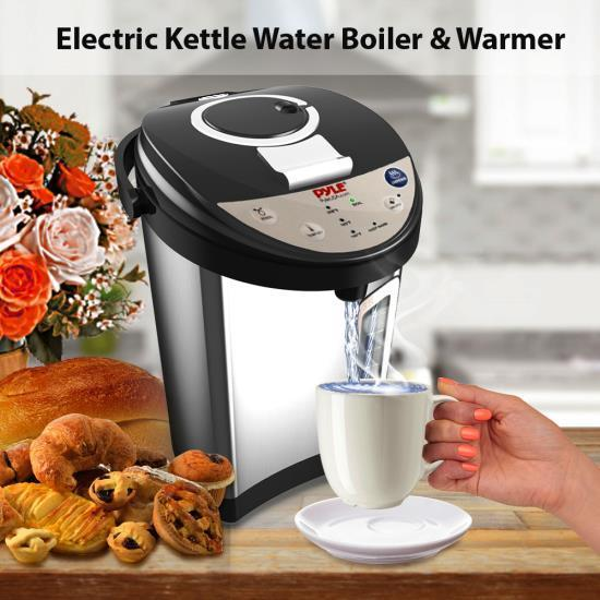 NutriChef Electric Water Boiler & Warmer - Digital Hot Pot Water Kettle with Adjustable Temp Control, 3.69 Quart (PKWK53)