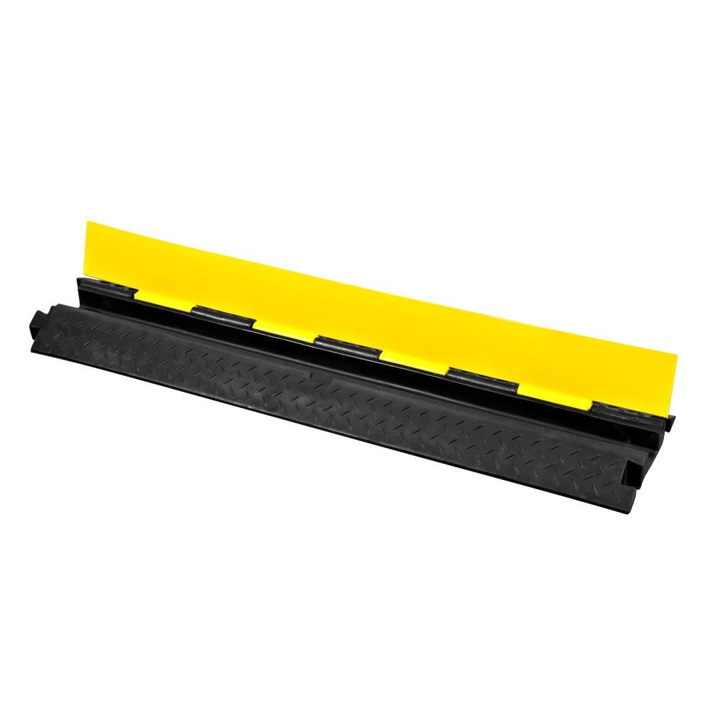 Pyle Safety Cable Protector Cover Ramp/Track, Flip-Open Access Lid, (PCBLCO102)