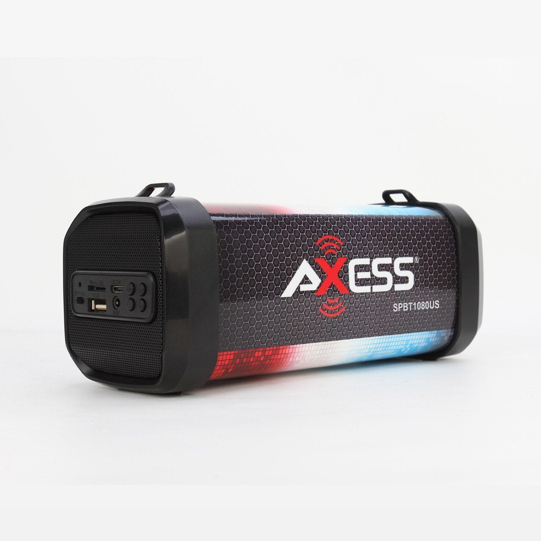 AXESS- USA Portable Bluetooth Speaker built-in lithium rechargeable battery 1500mAh with up to 5 hours of play time (SPBT1080US)