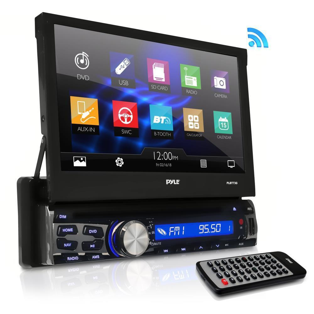 Pyle Bluetooth Stereo Car Receiver, 7'' HD Touchscreen, AM/FM Radio, (PLBT73G)