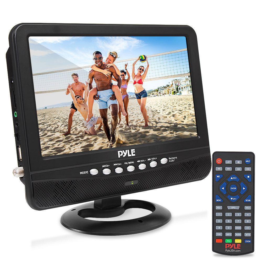 Pyle Portable Wireless 9'' Widescreen TV, Rechargeable Battery,  Dual Stereo Speakers, (PLTV9553)