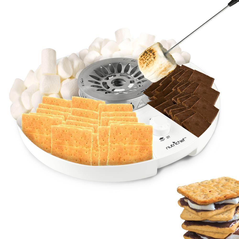 NutriChef S'mores Maker - Electric Marshmallow Candy Melter (PKSMGM26)