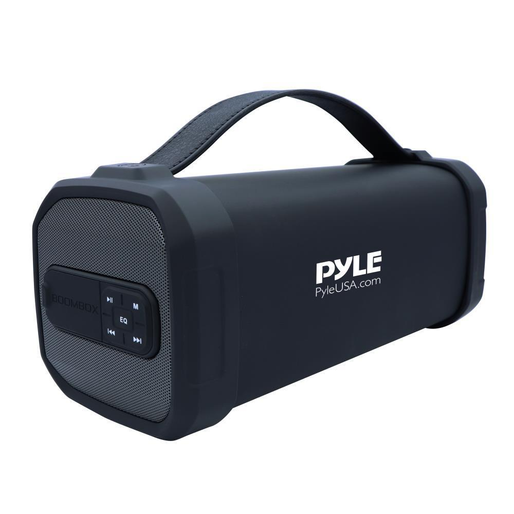 Pyle Portable Bluetooth Speaker, Rechargeable Battery, FM Radio (PBMSQG9)