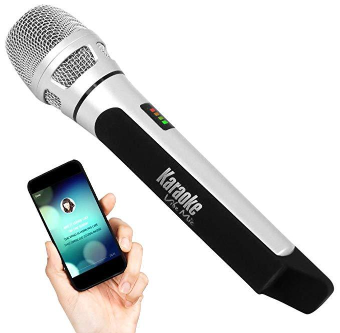 Pyle Bluetooth Karaoke Microphone, Rechargeable Battery, FM Radio Station (PKRK9CR)