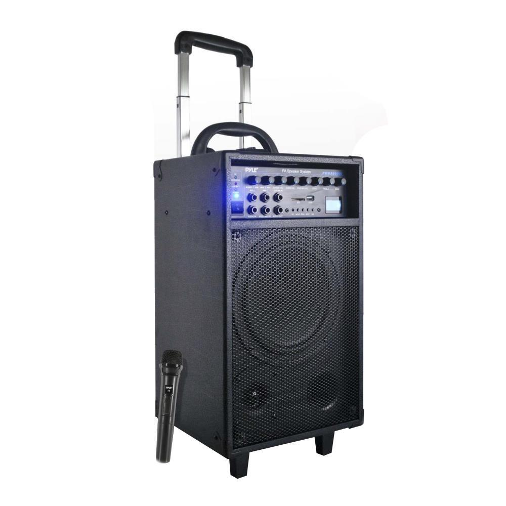 PylePro Portable PA Speaker System, Built-in Rechargeable Battery, MP3/USB/SD Readers, 30-Pin iPhone/iPod Dock, FM Radio, Accessory Kit, 500 Watt