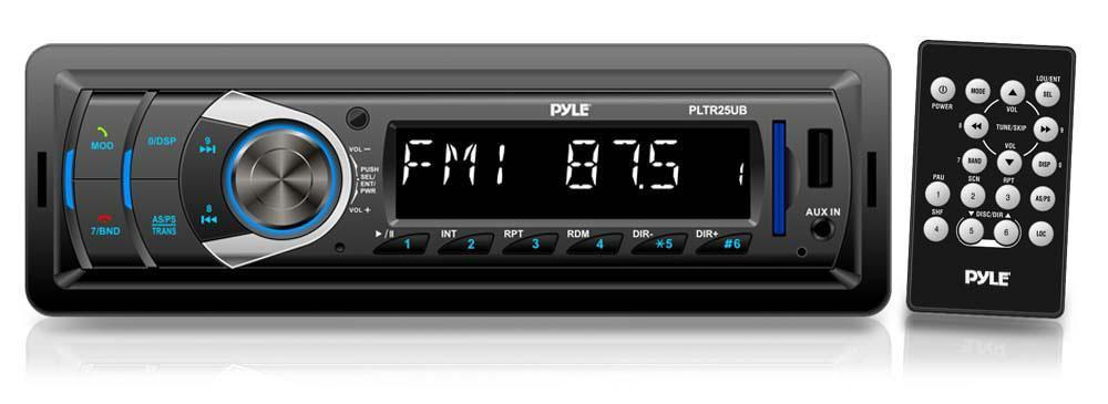 Pyle Bluetooth Vehicle Receiver System, AM/FM Radio - Black (PLTR25UB)