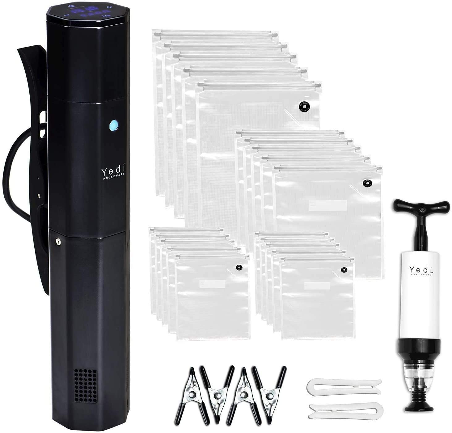 Yedi Infinity Sous Vide, Octcision Technology, Ultra Quiet, HyperFast Water Heating, Deluxe Accessory Kit, 1000 Watts (GV024)