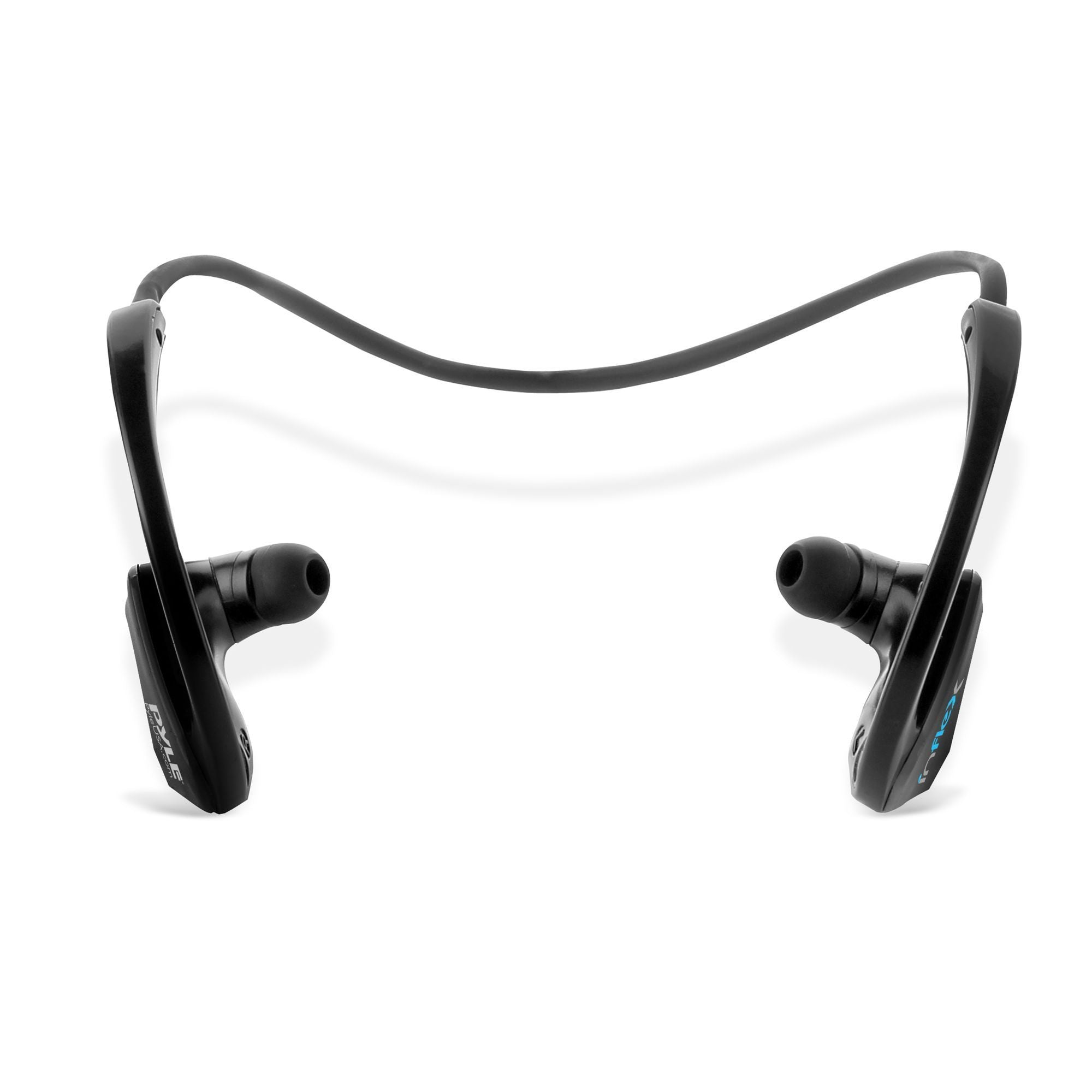 Pyle MP3 Player Bluetooth Headphones - Waterproof Fitness MP3 Headphones for Swimming, Sports, Running, MP3 Wireless, 2-in-1 8Gb Memory, Store Up to 2,500 Songs - PSWP9BTBK