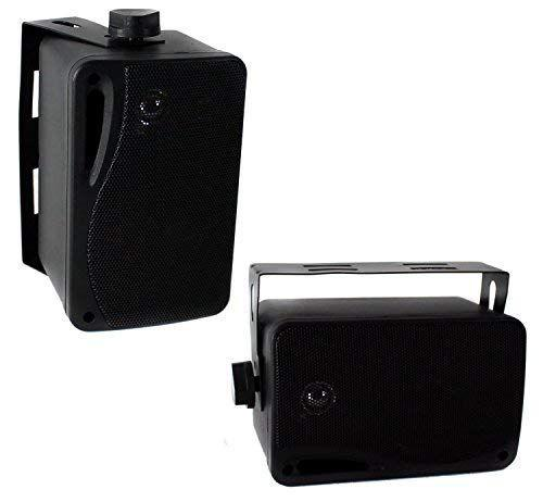 Pyle 3.5'' 200 Watt 3-Way Weather Proof Mini Box Speaker System (White) (PLMR24)