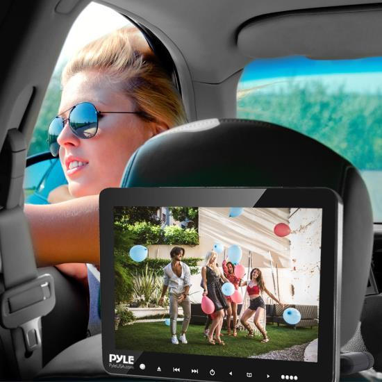 Pyle Vehicle Headrest Mount CD/DVD Player - Car Video Entertainment Display Monitor (9.4 -inch) (PLHRDVD904)