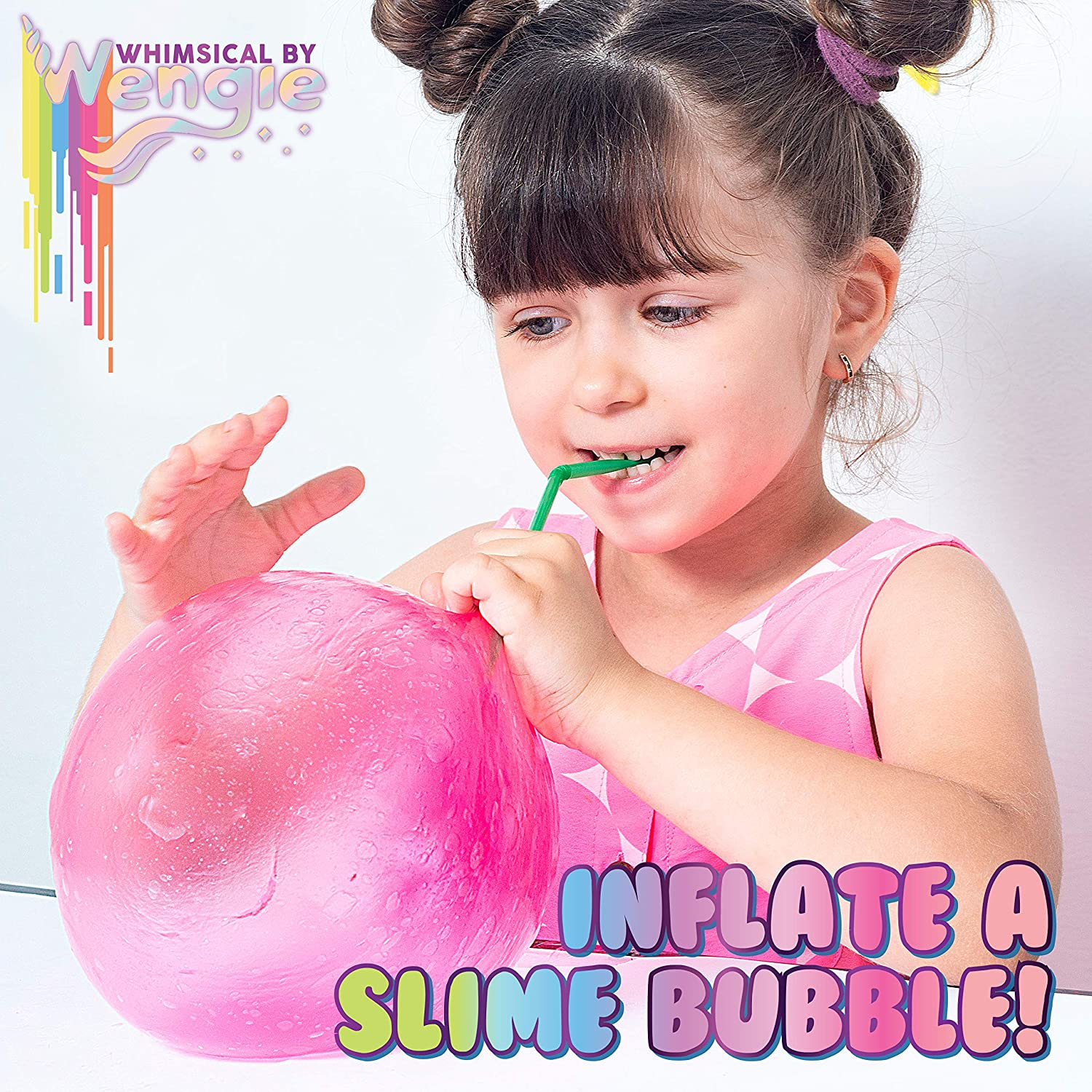 Wengie Whimsical Scented Slime Kit w/ Mystery Unicorn Charm - 4 Pack Glossy Fluffy Puffy Cloud Fruity Slime for Girls & Boys - STEM Educational Stress Relief Squishy Party Favors for Kids Age 6+