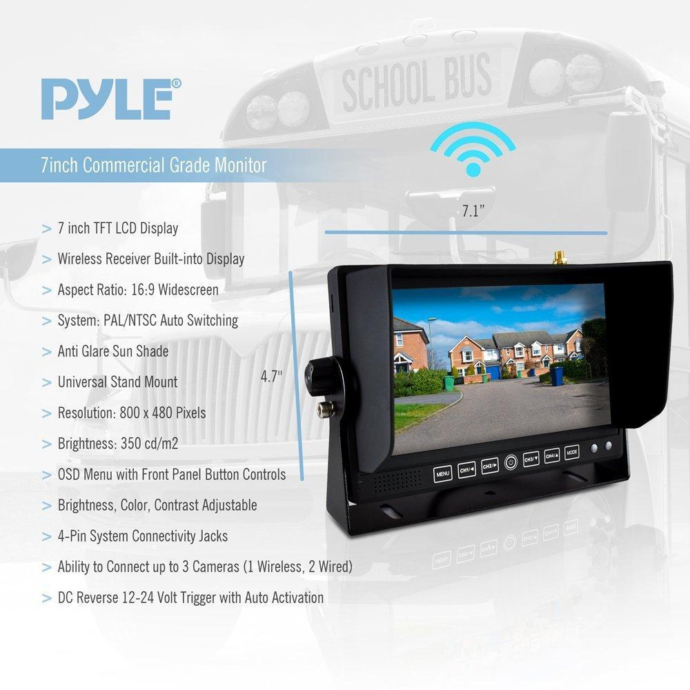 Pyle Wireless Commercial Rearview Backup Camera Video Monitor System, Weatherproof, (PLCMTR82WIR)