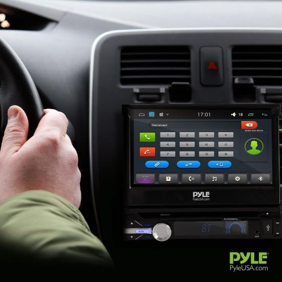 Pyle Android Car Stereo Receiver, Bluetooth/WIFI, 7.0'' Fold Out Touchscreen, (PLTDAND72)