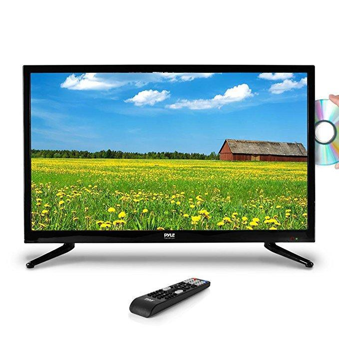 "Pyle Upgraded 2018 40"" Inch 1080p HD LED TV DVD Player Combo Ultra Hi Resolution Widescreen Monitor w/ HDMI Cable RCA Input, Built in Audio Speaker,Can work for Mac PC Computer, Flat Slim,(PTVDLED40)"