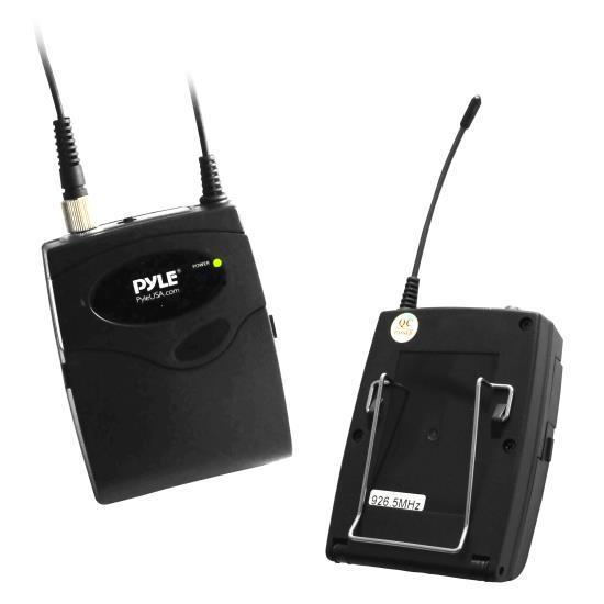 Belt Pack Microphone System with Wireless USB Receiver, Headset Mic & Lavalier Mic