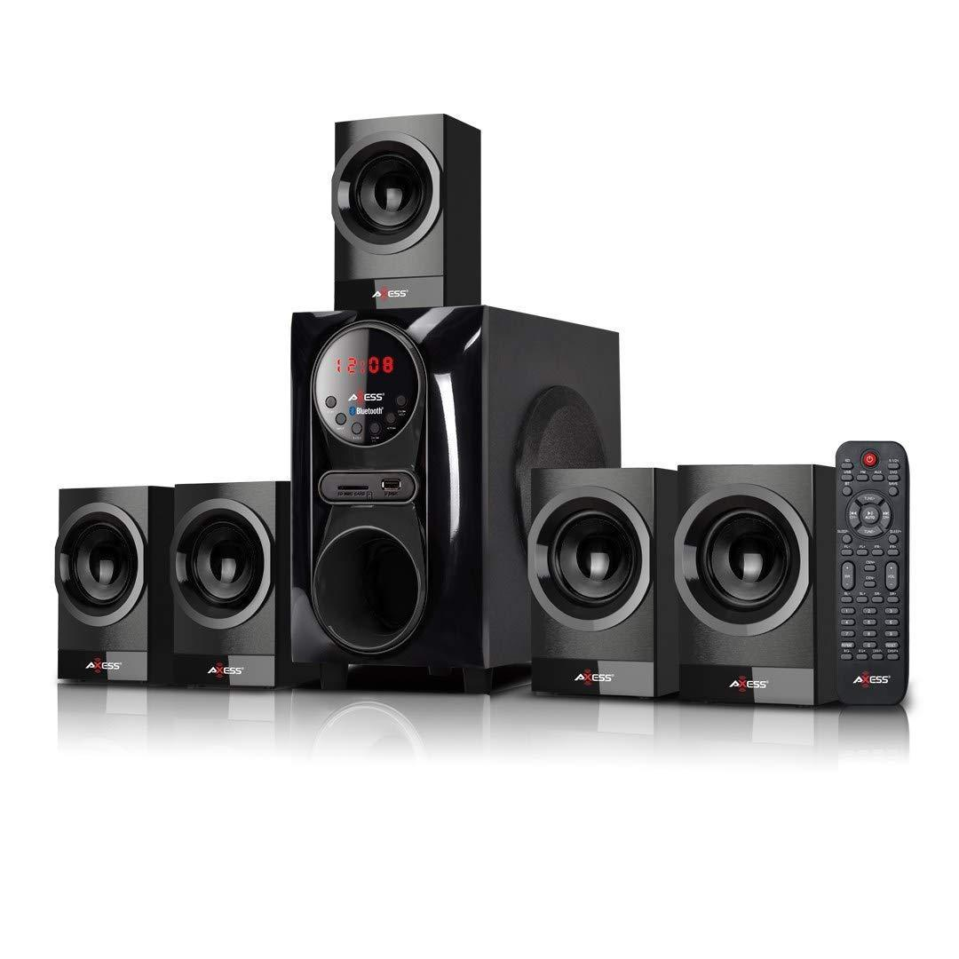 AXESS Mini Entertainment System 5.1-Channel Home Theater Speaker System BLACK (MSBT3911BK)