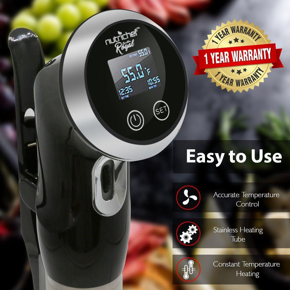 NutriChef Sous-Vide Immersion Circulator Cooker (PKPC235BK)