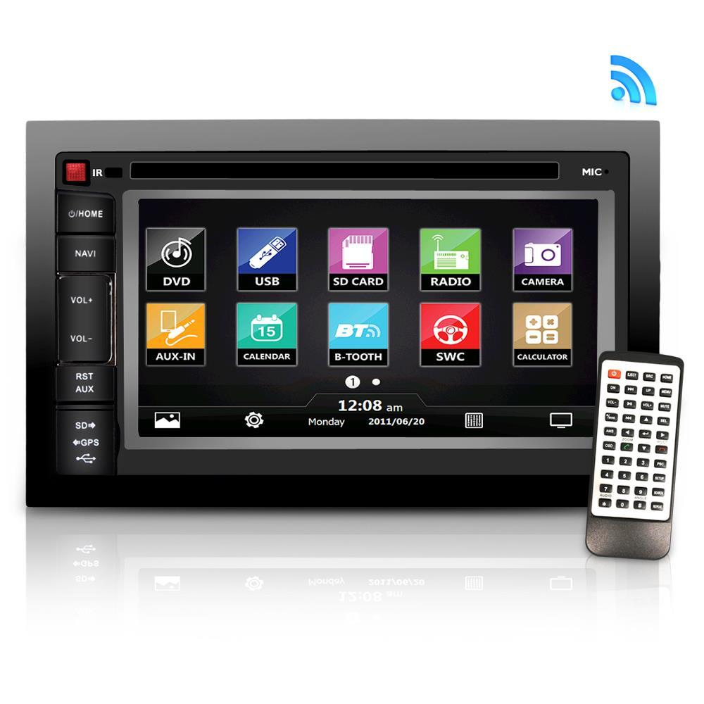 "Lanzar Car Video Bluetooth Receiver, 6.5"" HD Touchscreen, (SDNV66B)"