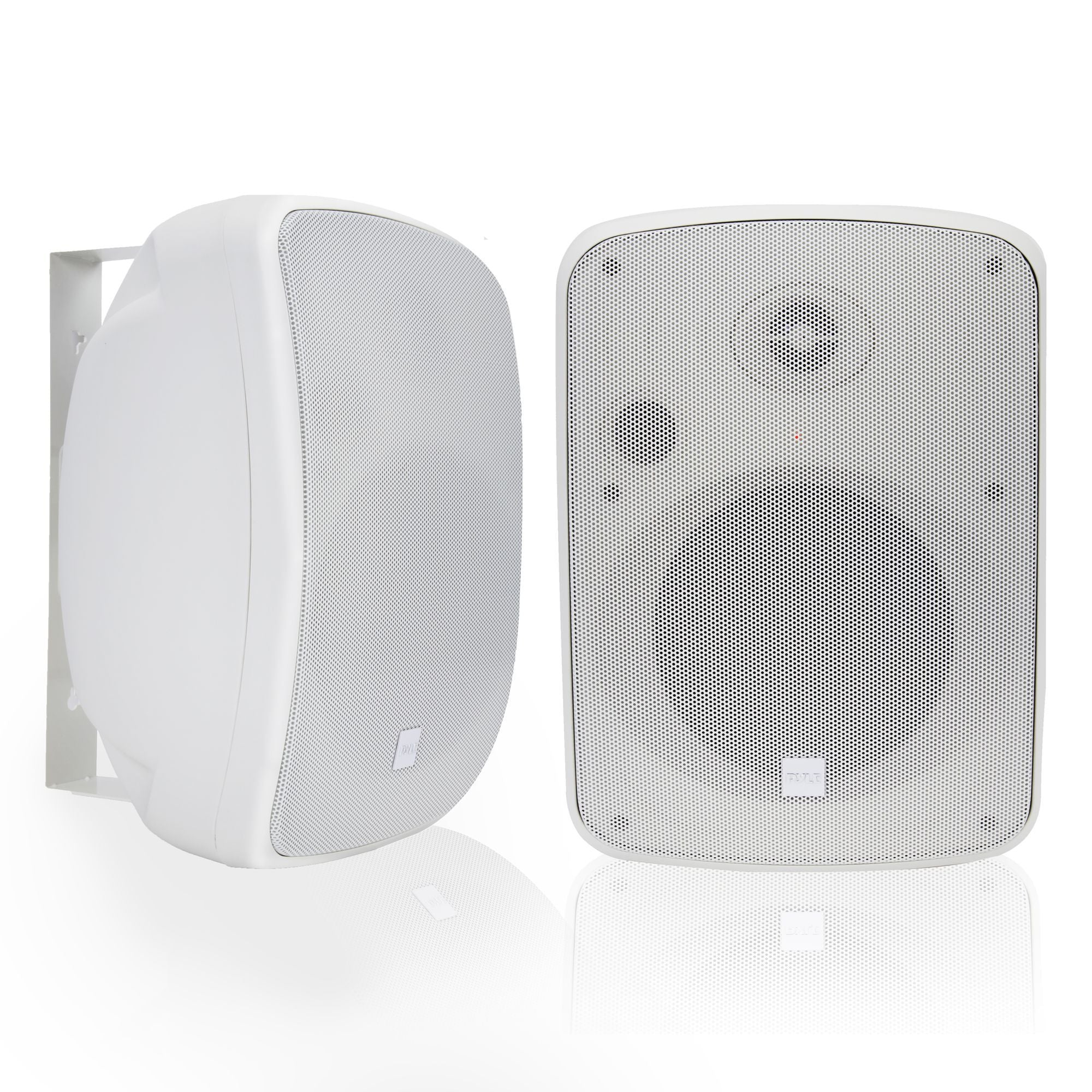 Pyle Pair of Bluetooth 6.5'' Wall-Mount Speakers, Waterproof, 2-Way Stereo - White (PDWR65BTRFW)