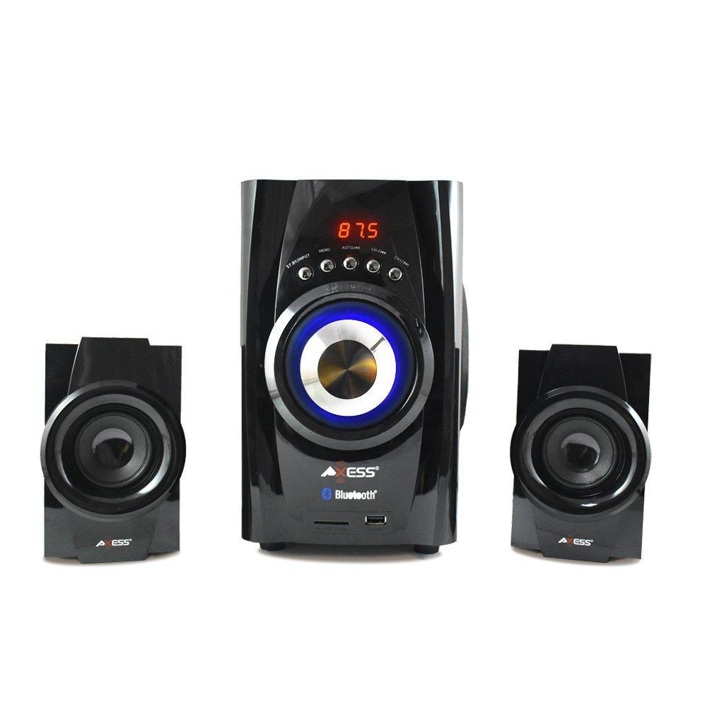 AXESS Bluetooth Mini System 2.1-Channel Home Theater Speaker System BLUE (MSBT3901)