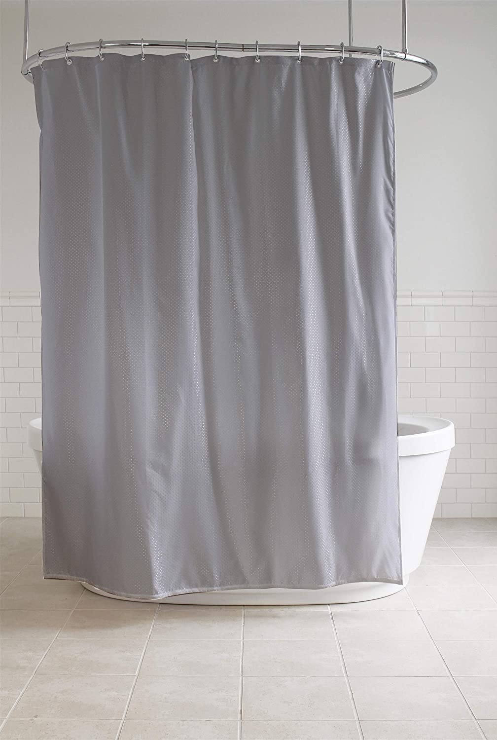 Splash Home Fabric Shower Curtain, 70'' x 72'' - Grey (7CDIAMD/OPGRYSPL)