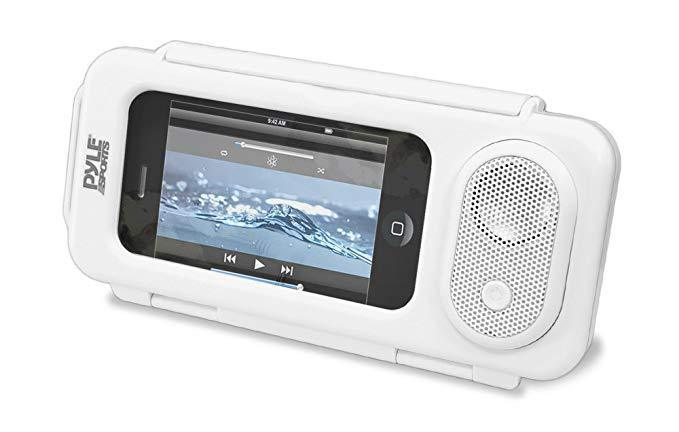 Pyle PWPS63WT Surf Sound Waterproof Portable Speaker Case for iPod, MP3 Player and Smartphone, White