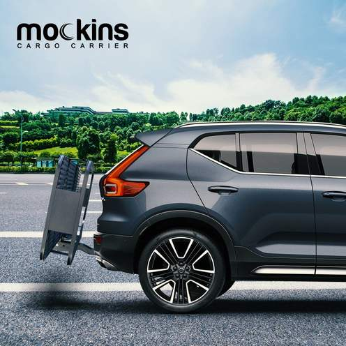 Mockins Vehicle Hitch Mount Cargo Carrier basket, Cargo Bag, Ratchet Straps, Bungee Net, (MACCBNS27)