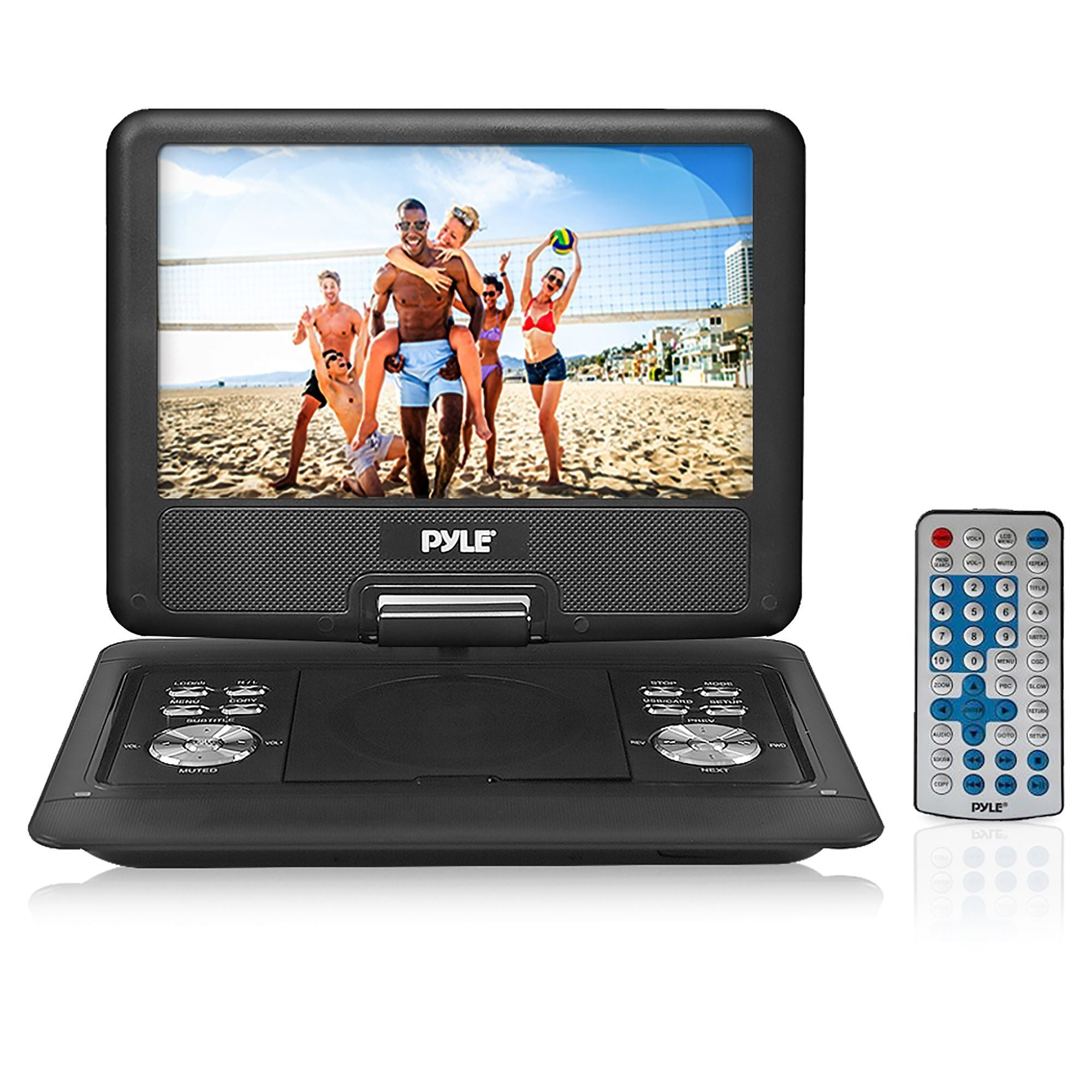 PyleHome 14'' Portable CD/DVD Player, Hi-Re Widescreen Display with Rechargeable Battery (PDH14)