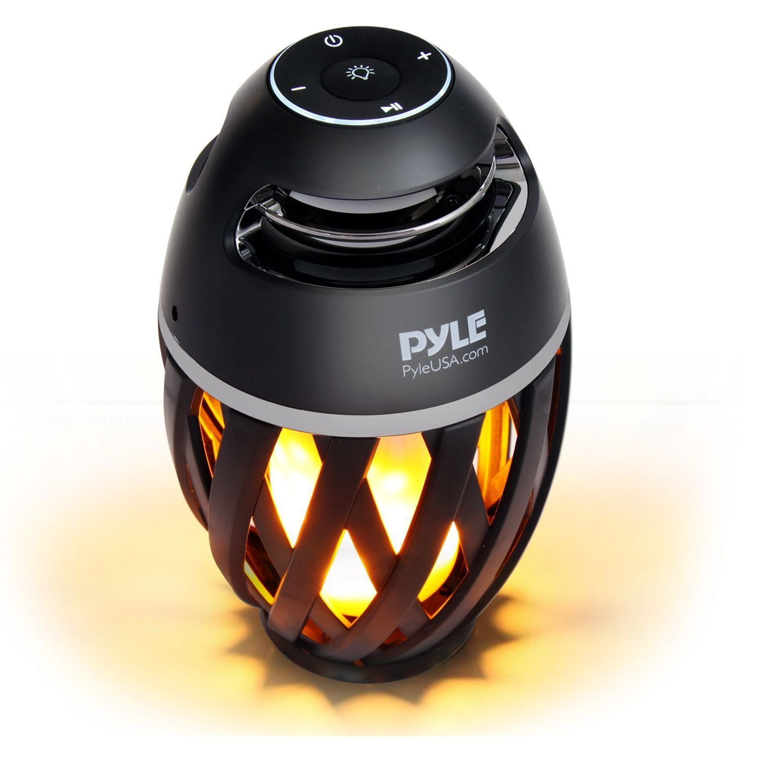 Pyle Portable Bluetooth Speaker, Candle Style LED Light - Waterproof Wireless Stereo Boombox (PLEDFSP18)