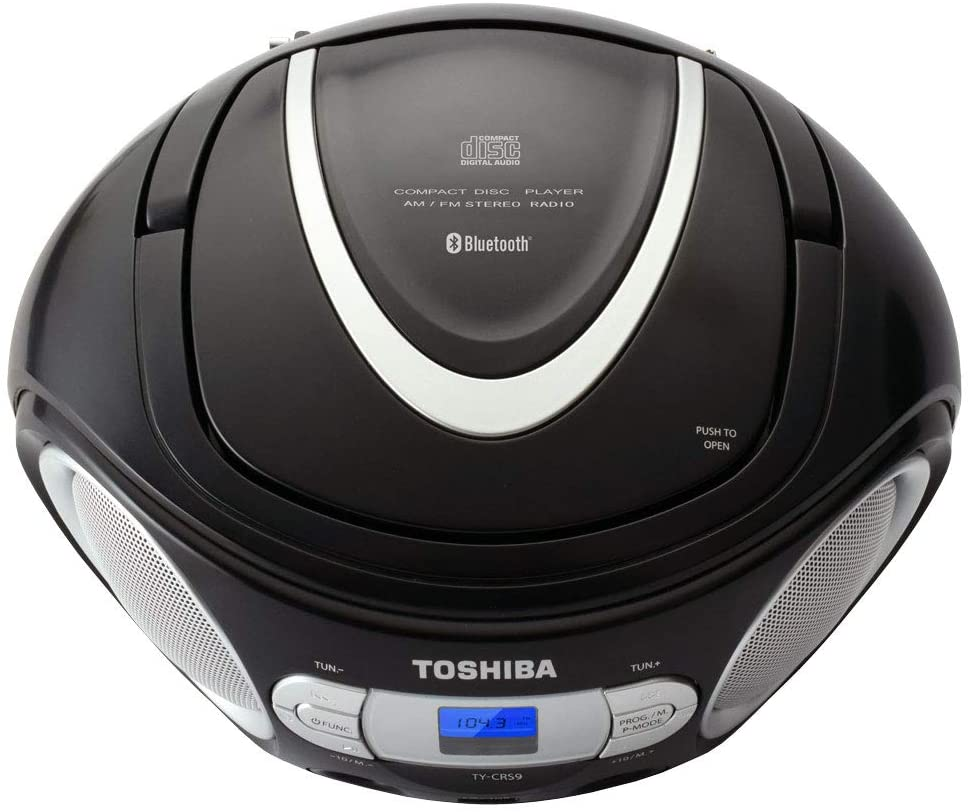 Toshiba Portable Bluetooth CD Player/Speaker, AM/FM Radio (TY-CWS9)