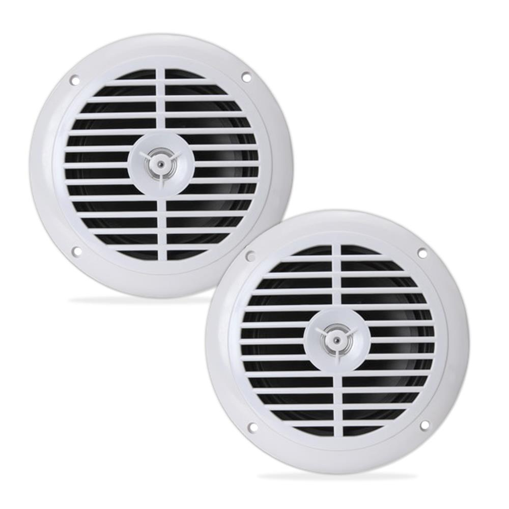 Pyle Pair of 6.5'' Waterproof Stereo Speakers - White (PLMR67W)