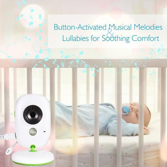 SereneLife Wireless Baby Monitor System - Camera & Video Child Home Monitoring (SLBCAM10)
