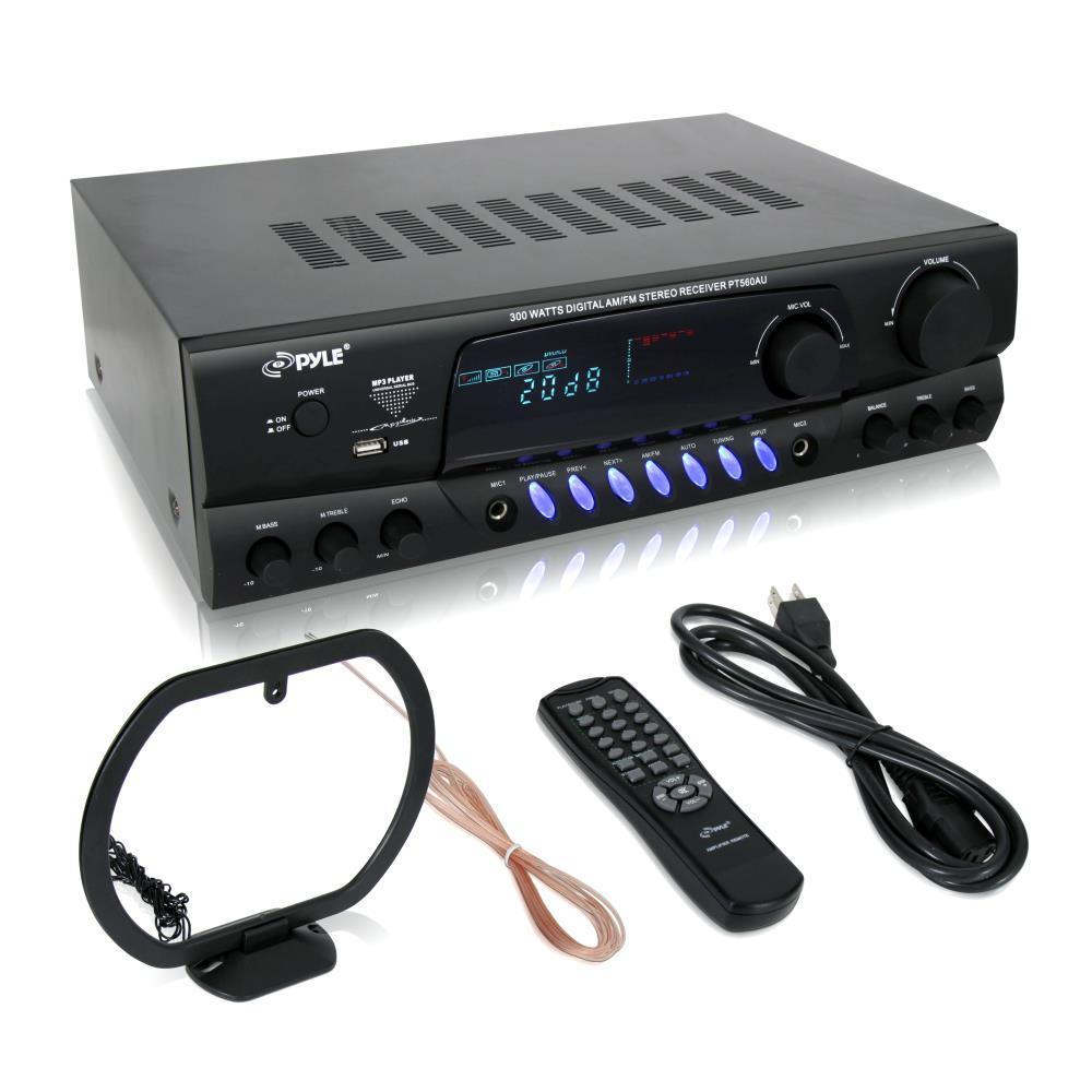 PyleHome 300 Watts Digital AM/FM/USB Stereo Receiver (PT560AU)