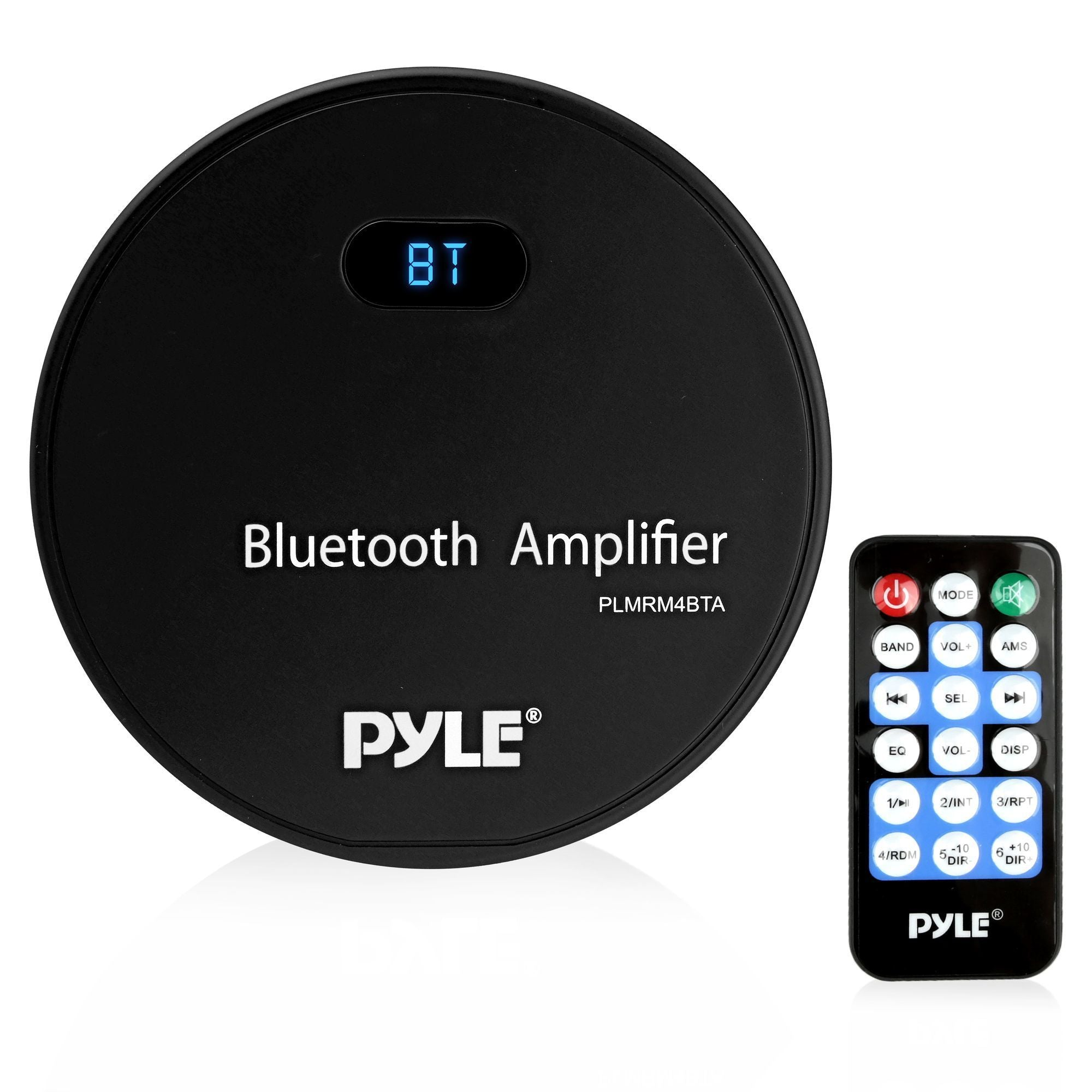 Pyle Wireless Bluetooth Vehicle Amplifier Receiver, Water Resistant, (PLMRM4BTA)